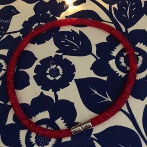 Swarovski wrap bracelet/necklace red